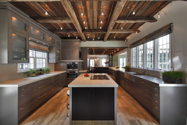 Defining elements of the modern rustic home for Rustic modern kitchen ideas