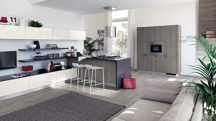Modern Kitchen Office sleek modern kitchen looks like a posh contemporary office!