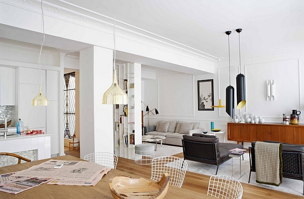 Sleek and stylish space with Tom Dixon Pendant Lights
