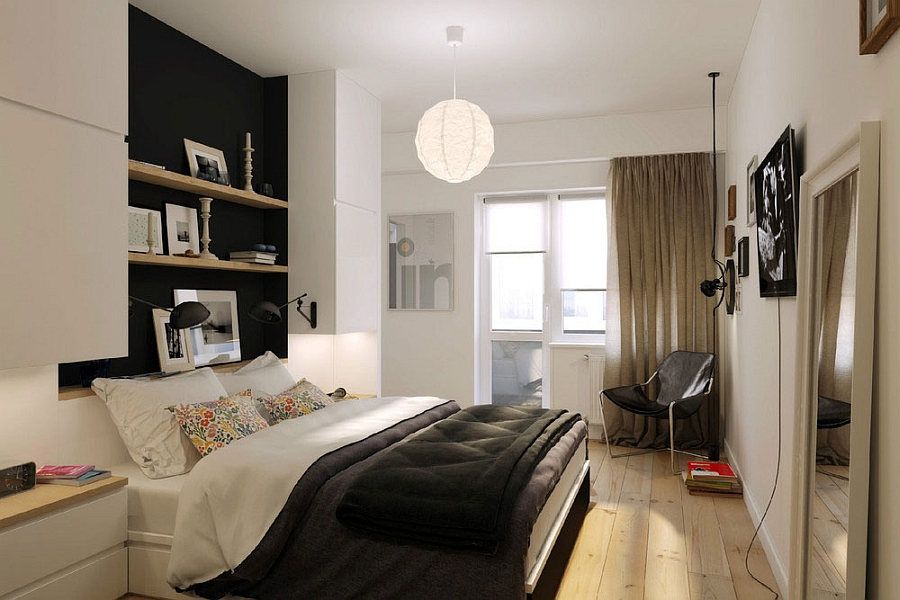 Apartment Bedroom Design tiny apartment in black and white charms with space-saving design