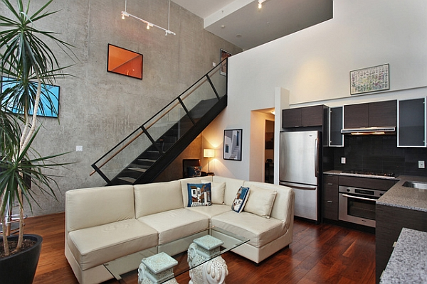 Small living room idea for an industrial loft Industrial Loft Brings A Dash New York City Charm To Downtown Vancouver!