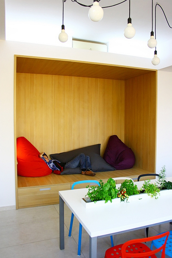 Smart nook in the office to rest and relax