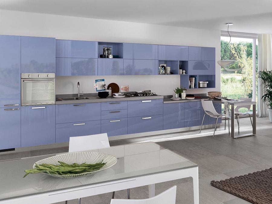 contemporary blue kitchen ideas | Sleek Modern Kitchen Looks Like A Posh Contemporary Office!