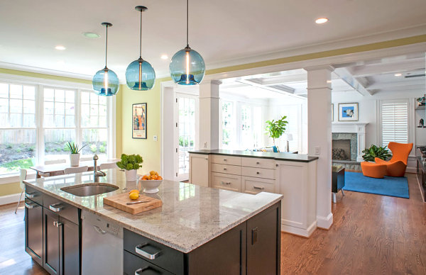 View In Gallery Soothing Tones In A Modern Kitchen