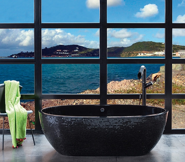 Sophisticated Aquamass Stone One Mosaic Bathtub