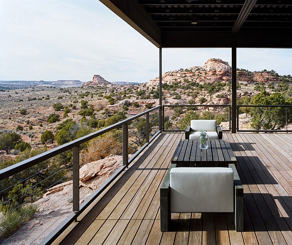 Spacious balcony of the Hidden Valley House