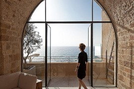 Splendid views of the Mediterranean Sea from the renovated Historic Israeli Apartment