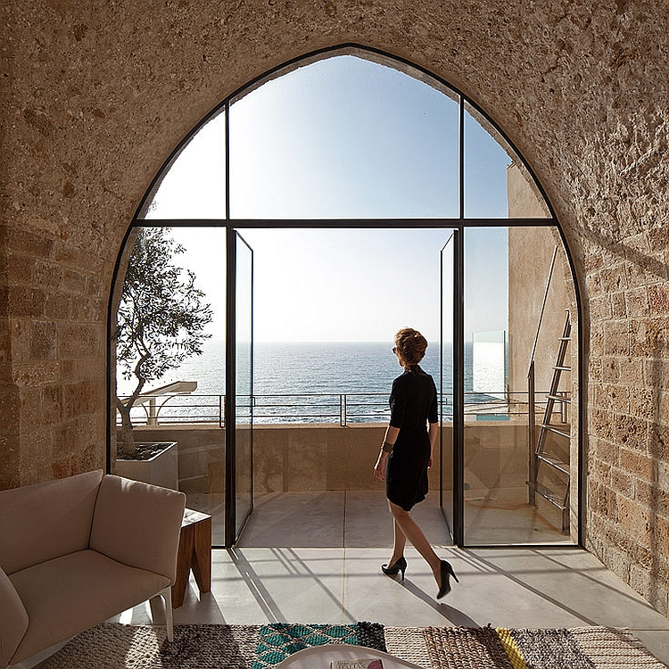 Splendid views of the Mediterranean Sea Modern Renovation Of A Historic Apartment Brings Home Sweeping Sea Views