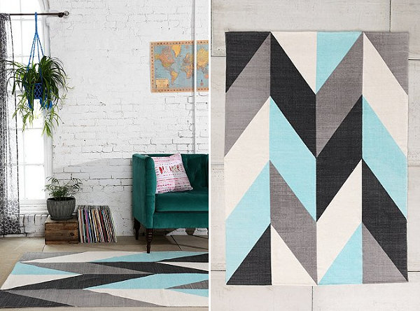 Split chevron rug