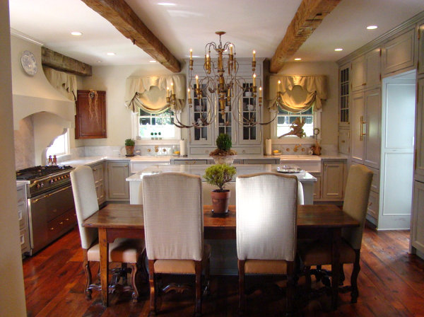 View In Gallery Statement Lighting In A French Country Kitchen