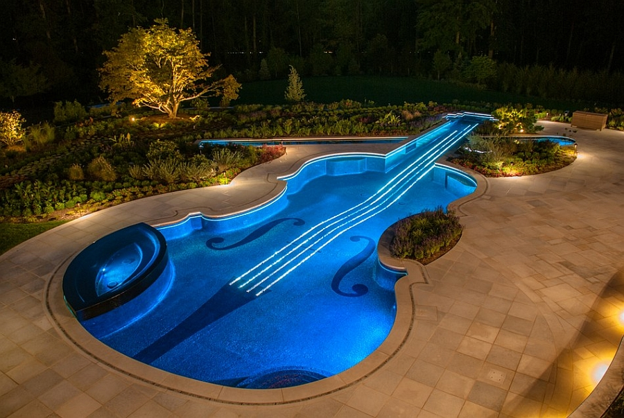 Stunning contemporary pool like a violin