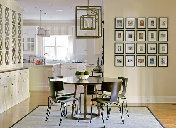 Stunning dining room charms with its understated class