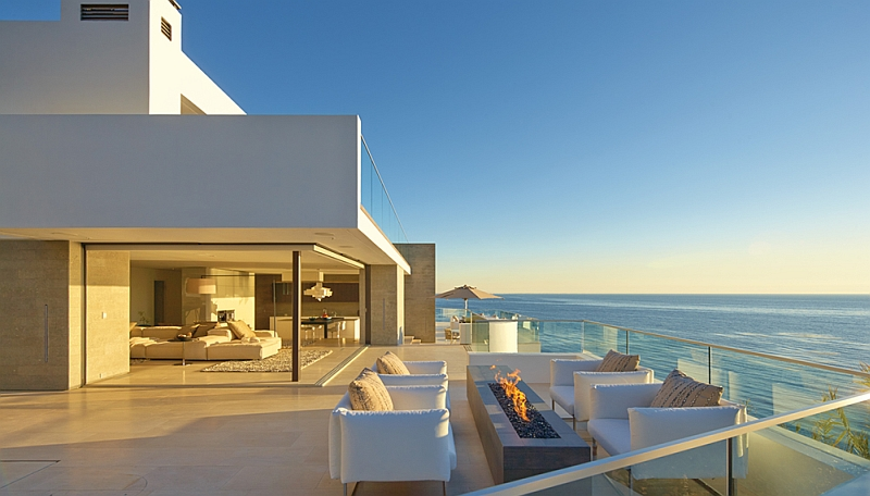 Stunning patio with dreamy ocean views
