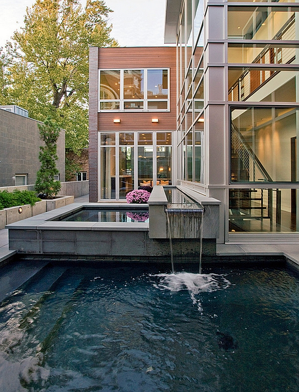 Stunning pool design for the stylish modern residence