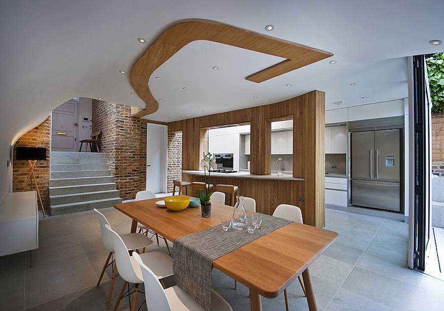 Stylish extension features spacious dining area