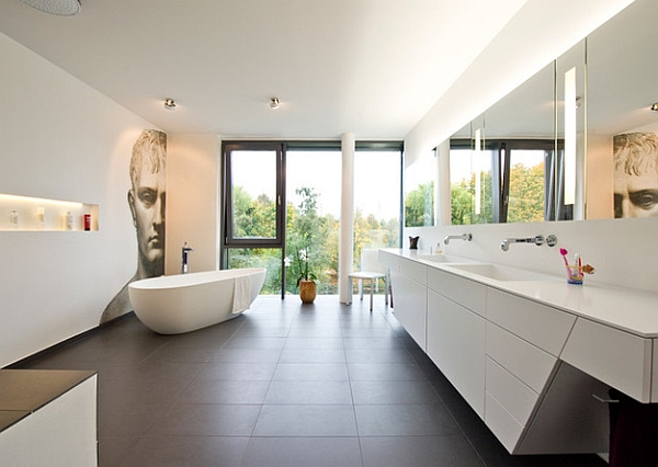 Hot bathroom trends freestanding bathtubs bring home the for Large bathroom designs