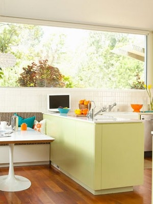 Stylish kitchen nook with a breezy coastal style