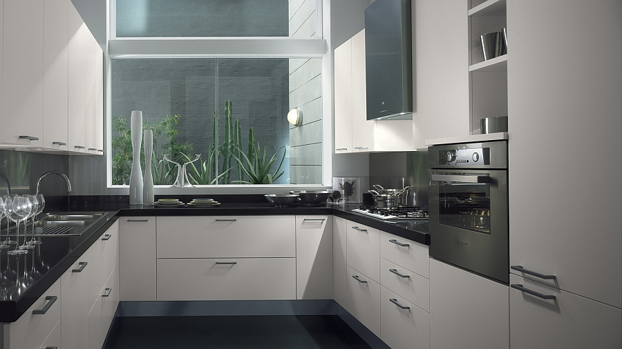 Stylish small kitchen design idea