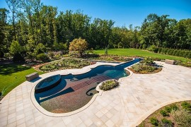 Swimming Pool Shaped As A Stradivarius Violin