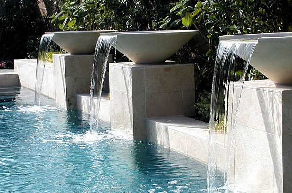 Swimming Pool Waterfall Designs 7 modern outdoor swimming pool design spa area waterfall View In Gallery Think Beyond The Conventional Waterfall Design