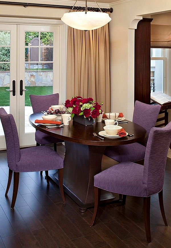View In Gallery Tiny Dining Table Arrangements Can Look As Impressive Larger Ones When Done Right