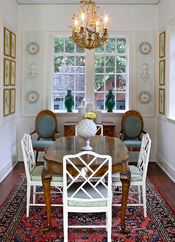 View In Gallery Traditional Dining Room With Additional Seating Space