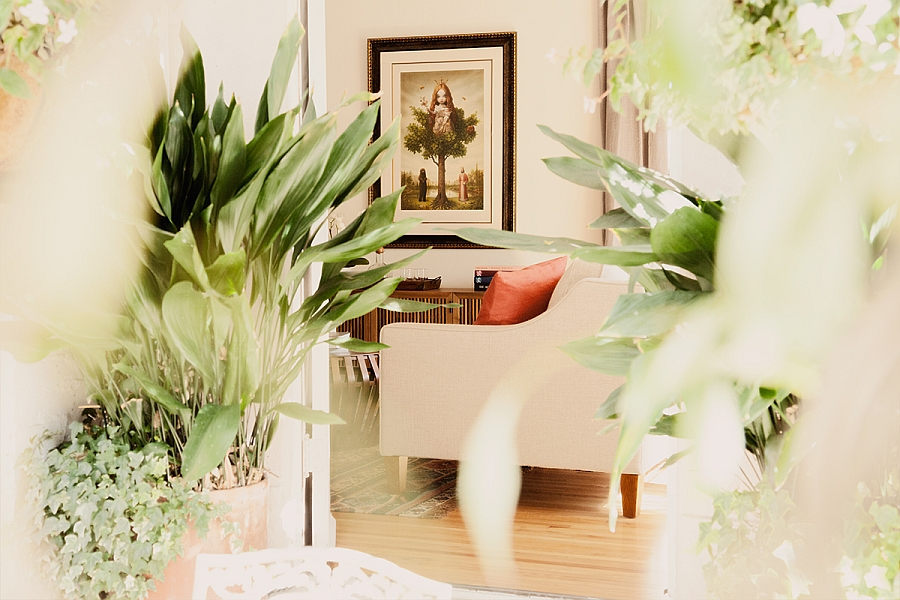 Tree of Life framed artwork in the living room