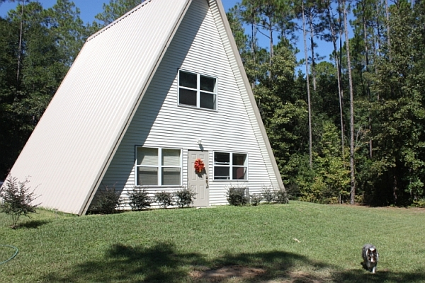 Unique design of the A-Frame house