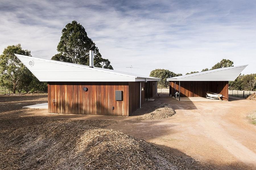 Unique facade of the Leura Lane house in Australia