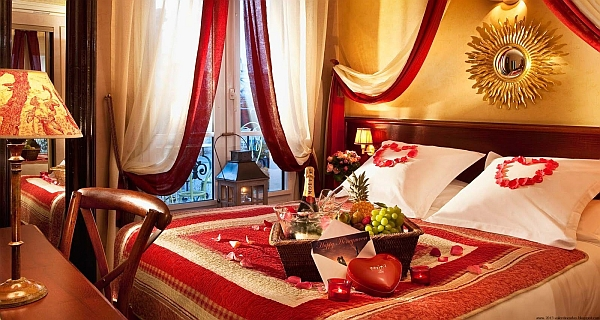 Romantic bedrooms how to decorate for valentine 39 s day for Wedding day room decoration