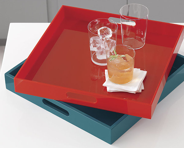 Vibrant lacquer trays