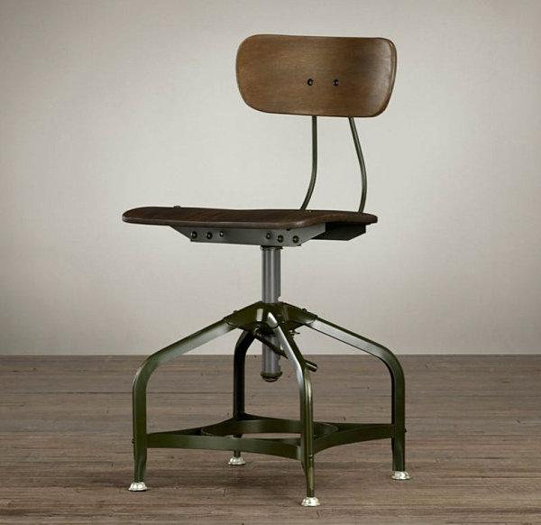 vintage industrial metal office chair metal. View In Gallery Vintage Industrial Dining Chair Metal Office E
