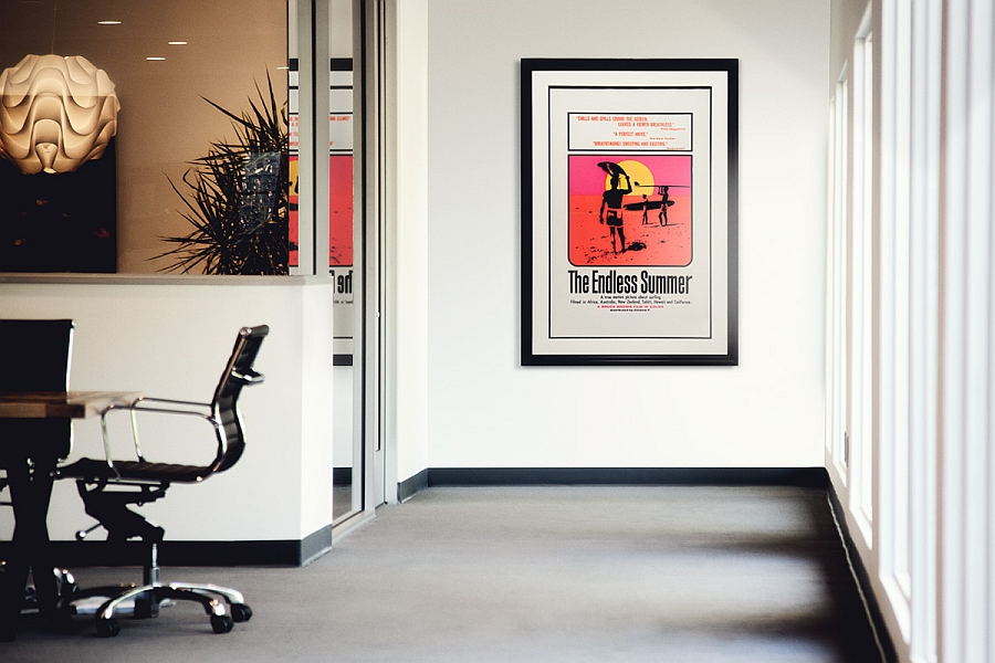 Spaces vintage posters and iconic artwork to enliven modern interiors