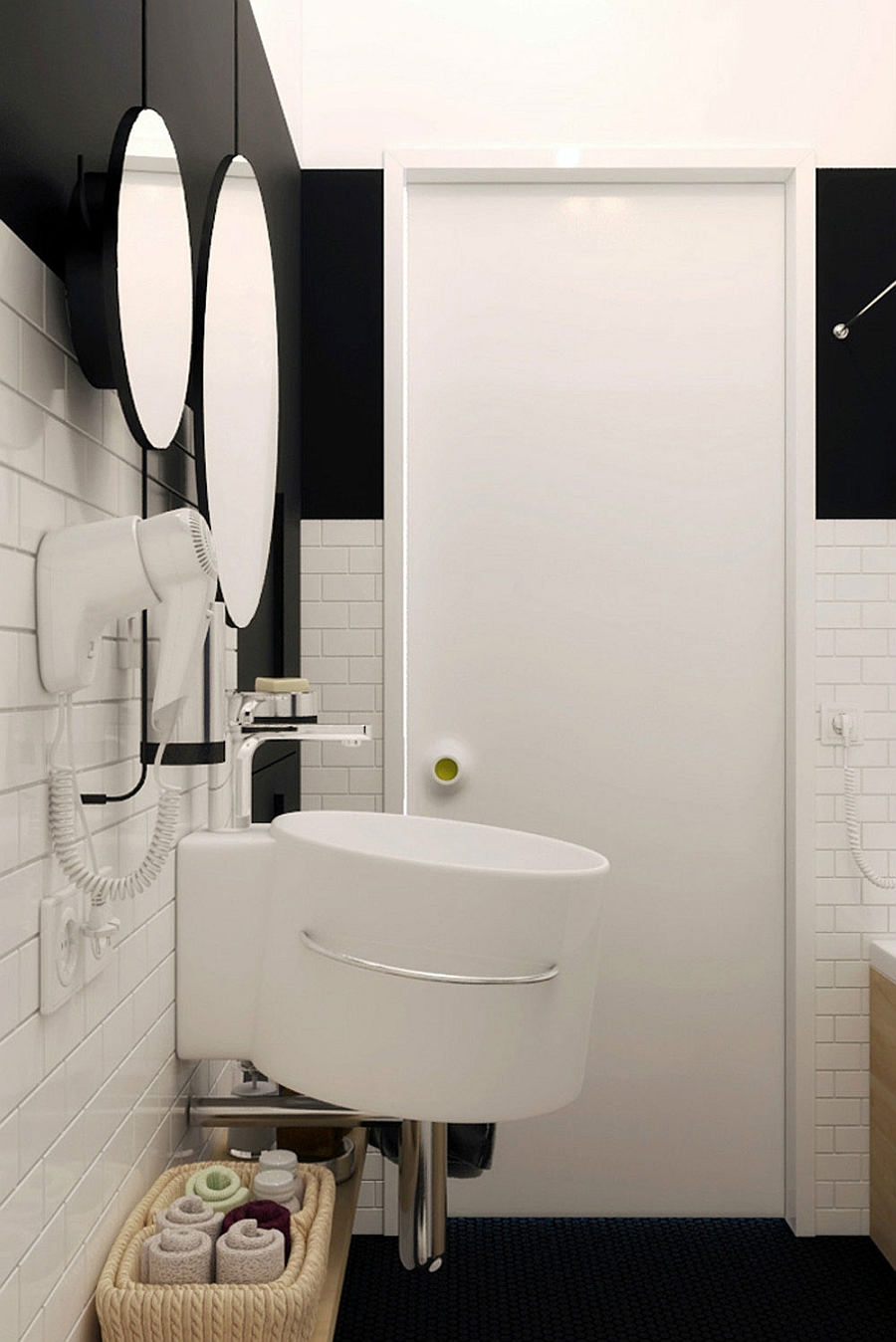 Wall-mouted sink for a small bathroom