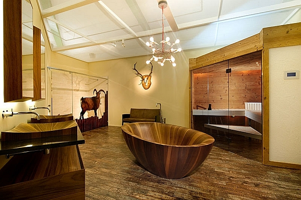Wooden bathtubs are as durable as their stone counterparts