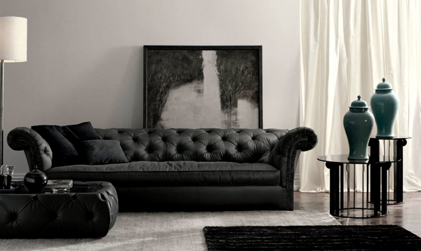 the chesterfield sofa a classic piece for any interior. Black Bedroom Furniture Sets. Home Design Ideas