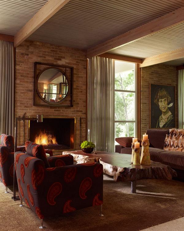 Brick Fireplace Interior Design