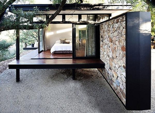 beautiful bedroom with sliding glass doors