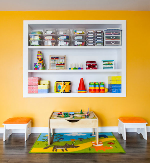 Colorful Playroom Design: Colorful And Playful Toy Chest And Storage Ideas For