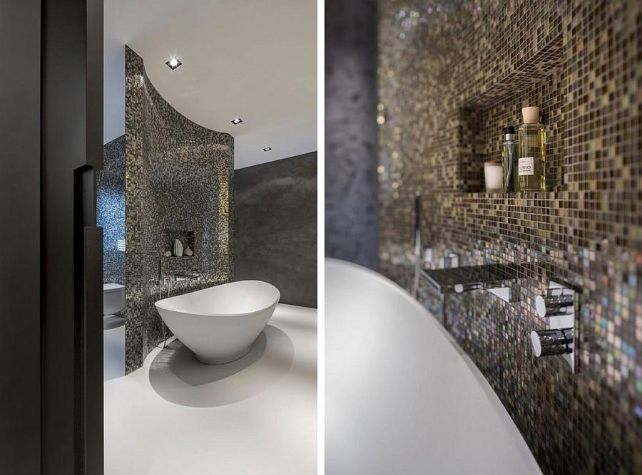 dazzling modern bathroom in Rotterdam villa