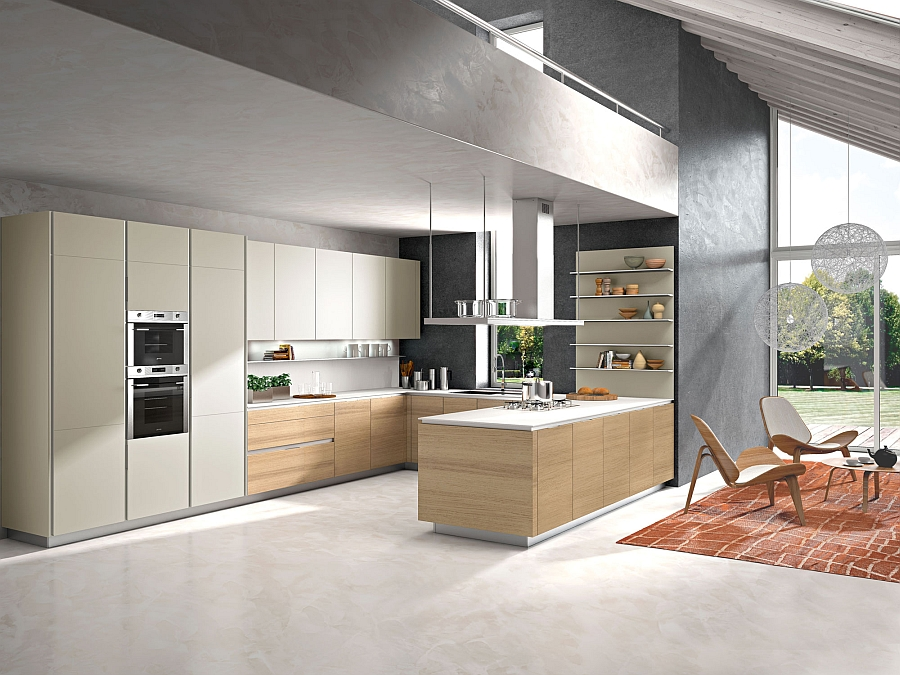 Contemporary italian kitchen offers functional storage for Italian modern kitchen design