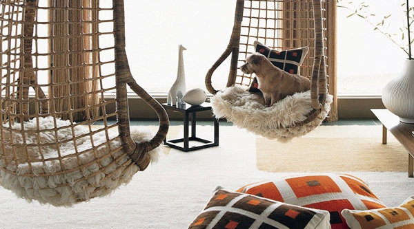 Inspiring design from another era the hanging chair for Living room hammock