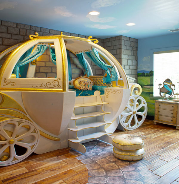 Fantasy beds for kids from race cars to pumpkin carriages for Car carriage