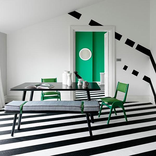 Bold And Beautiful Black White Stripes In Every Room
