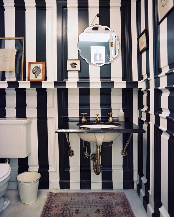 Black And White Walls bold and beautiful black and white stripes in every room