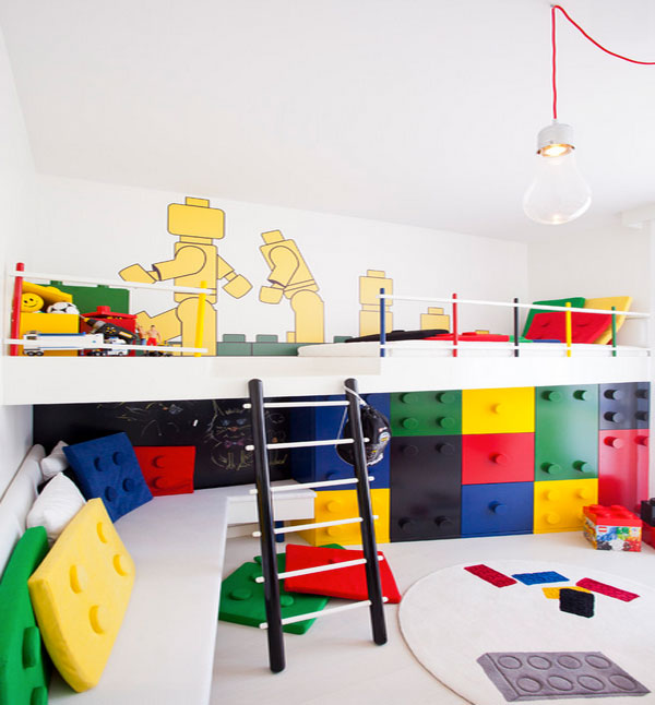 Colorful and playful toy chest and storage ideas for for Design a house online for fun
