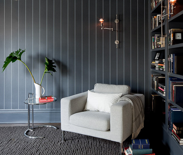 pinstripe Bold and Beautiful Black and White Stripes in Every Room
