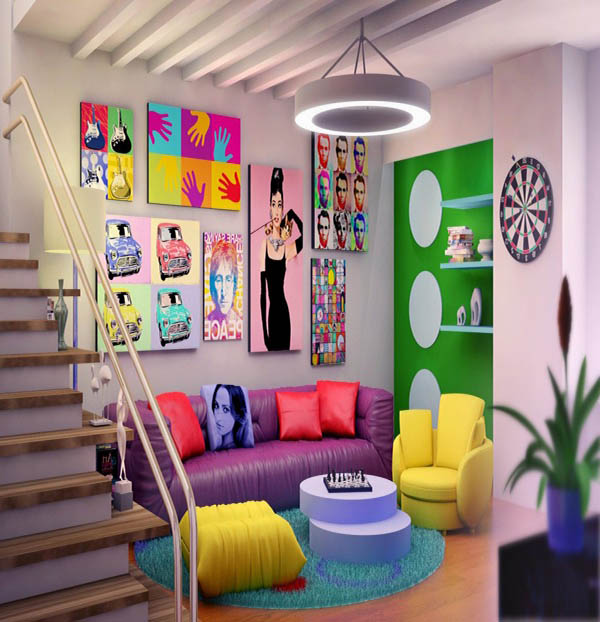 pop art interior decor ideas 1024x622 Andy Warhols Pop Art Makes A Special Appearance Indoors