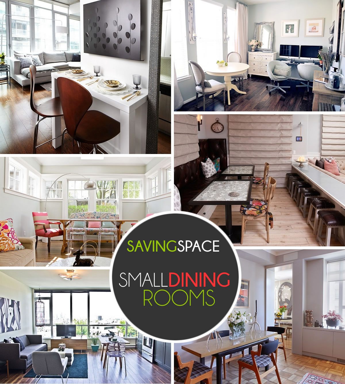 Small dining rooms that save up on space - What to do with small spaces set ...