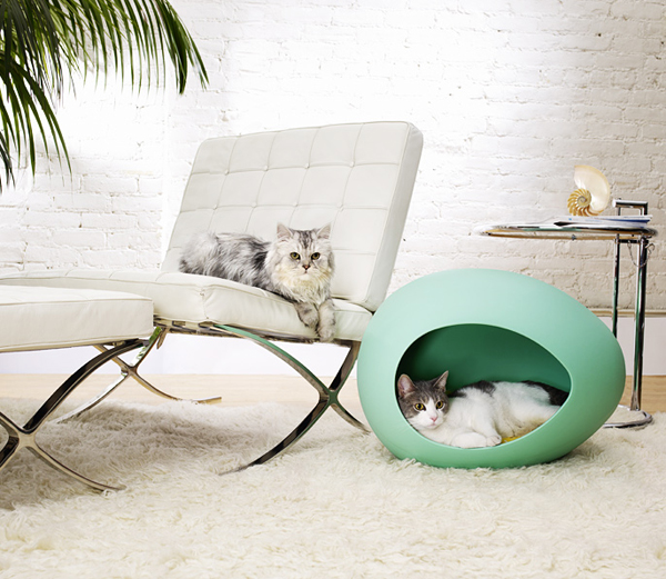 pretty design modern cat bed. This next bed is by Forma Italia  The company works with clients to customize dimensions for a perfect fit your pet from Modern Pet Furniture That Will Look Great In Your Home